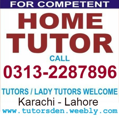 Matric Tutor, Inter Teacher, Tuition provider, Karachi Academy School